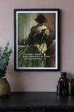 Lifestyle image of the Framed My Hobbies Include... Art Print