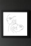 Image of the Framed White Lovers Art Print