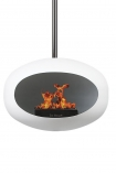 Image of the White Le Feu Sky Eco Fireplace on a white background