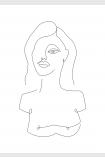 Image of the Unframed White Self Portrait Art Print