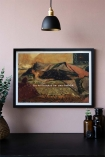 Lifestyle image of the Framed Too Magical Art Print on a light wall