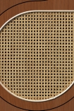NLXL VOS-11 Vintage Drops Webbing Wallpaper by Studio Roderick Vos - Mahogany - SAMPLE