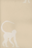detail image of Cheeky Monkey Wallpaper By Andrew Martin - Natural  nude silhouettes of monkeys on natural background