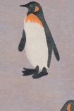 detail image of Emporer Wallpaper By Andrew Martin - Storm black white and orange penguin on purple background