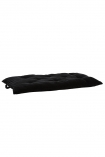 cutout Image of the Black Noir Soft Velvet Seat Pad Chair Cushion laying flat on a white background