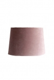 cutout image of Dusky Pink Sumptuous Velvet Lamp Shade - Medium on white background