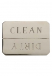 Clean/Dirty Dishwasher Indicator Magnet - Brass Or Stainless Steel Available