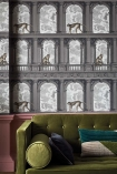 Close-up lifestyle image of the Procuratie con vista Wallpaper by Cole & Son