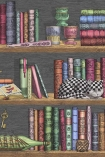 Close-up sample image of the Libreria Wallpaper by Cole & Son