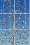 Close-up image of Uccelli Wallpaper - Cerulean Sky