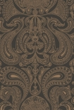 detail image of Cole & Son Contemporary Restyled - Malabar Wallpaper - Bronze on Black 95/7044 - ROLL renaissance style repeated pattern