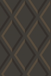 detail image of Cole & Son Contemporary Restyled - Pompeian Wallpaper - Slate & Bronze 95/11062 - ROLL dark diamond repeated pattern
