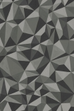 detail image of Cole & Son Curio Collection - Quartz Wallpaper - Graphite 107/8037 - ROLL grey toned geometric repeated pattern
