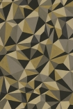detail image of Cole & Son Curio Collection - Quartz Wallpaper - Gold & Silver 107/8038 - ROLL gold green and grey geometric repeated pattern