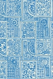 detail image of Cole & Son Mariinsky - Bellini Wallpaper - Blue & White 108/9045 - ROLL floral patterned tiles repeated pattern