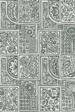 detail image of Cole & Son Mariinsky - Bellini Wallpaper - Black & White 108/9046 - ROLL floral patterned tiles repeated pattern