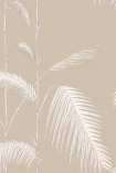 detail image of Cole & Son New Contemporary - Palm Leaves Wallpaper - Ivory 66/2013 - ROLL white palm leaves on stems on nude background repeated pattern