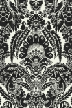 detail image of Cole & Son The Albemarle Collection - Chatterton Wallpaper - White 94/2010 - ROLL black and white renaissance style repeated pattern