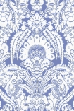 detail image of Cole & Son The Albemarle Collection - Chatterton Wallpaper - Cobalt Blue 94/2012 - ROLL blue and white renaissance style repeated pattern