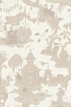 detail image of Cole & Son The Archive Anthology - Chinese Toile Wallpaper - Neutral 100/8039 - ROLL nude Chinese scene repeated pattern