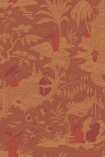 detail image of Cole & Son The Archive Anthology - Chinese Toile Wallpaper - Red 100/8041 - ROLL red and orange Chinese scene repeated pattern