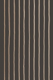 detail image of Cole & Son Marquee Stripes Collection - College Stripe Wallpaper - Brown 110/7034 - ROLL cream pin stripes on brown background repeated pattern