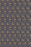 detail image of Cole & Son Contemporary Restyled - Hicks' Hexagon Wallpaper - Charcoal 95/3015 - ROLL honeycomb repeated pattern