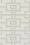 detail image of Designers Guild The Edits Patterns V1 Collection - Reinsberg Wallpaper - Ivory P533/01 - ROLL grey and cream rectangle geometric repeated pattern