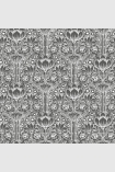 square detail image of Engblad & Co Rosegarden Wallpaper - Black & White 6087 - ROLL black and white roses floral repeated pattern