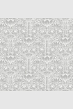 square detail image of Engblad & Co Rosegarden Wallpaper - Grey & White 6088 - ROLL roses floral repeated pattern