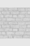 square detail image of Engblad & Co Decorama Brick Wallpaper - Grey 7032 - ROLL