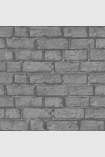 square detail image of Engblad & Co Decorama Brick Wallpaper - Black 7033 - ROLL