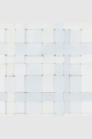 square detail image of Engblad & Co Front Weave Wallpaper - White 4050 - ROLL white weaved repeated pattern