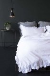Malmo Washed Cotton Duvet Cover - Soft White