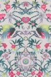 detail image of Matthew Williamson Menagerie Wallpaper - Pink & Green W6950-01 - ROLL pink and green toned floral kaleidoscope effect repeated pattern