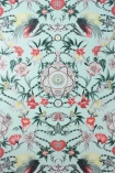 detail image of Matthew Williamson Menagerie Wallpaper - Red & Green W6950-03 - ROLL pink green and blue floral kaleidoscope effect repeated pattern