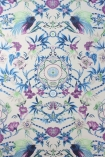 detail image of Matthew Williamson Menagerie Wallpaper - Purple & Blue W6950-02 - ROLL blue and purple floral kaleidoscope effect repeated pattern