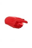 cutout image of Pointing Hand Wall Art & Coat Hook - Red on white background