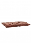 cutout Image of the Rust Terracotta Soft Velvet Seat Pad Chair Cushion laying flat on a white background