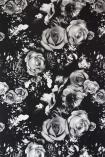 Rockett St George Flower Power Wallpaper - Monochrome