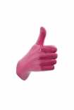 cutout image of Thumbs Up Hand Wall Art & Coat Hook - Hot Pink on white background