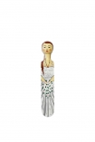 Image of Bride doorstop on white background cutout image