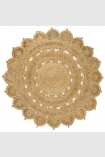 cutout image of Zira Circular Jute Rug - Natural on white background