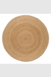 cutout image of Round Faro Jute Rug - Natural on white background