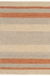 cutout image of Fields Stripey Rug - Coral - 120cm x 170cm on white background