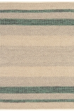 cutout image of Fields Stripey Rug - Emerald - 120cm x 170cm on white background