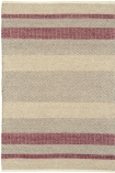 cutout image of Fields Stripey Rug - Red - 160cm x 230cm on white background