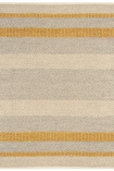 cutout image of Fields Stripey Rug - Mustard - 120cm x 170cm on white background