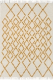 cutout image of Hackney Diamond Kelim Rug - Yellow - 160cm x 230cm on white background