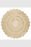 cutout image of Zira Circular Jute Rug - Light Natural on white background